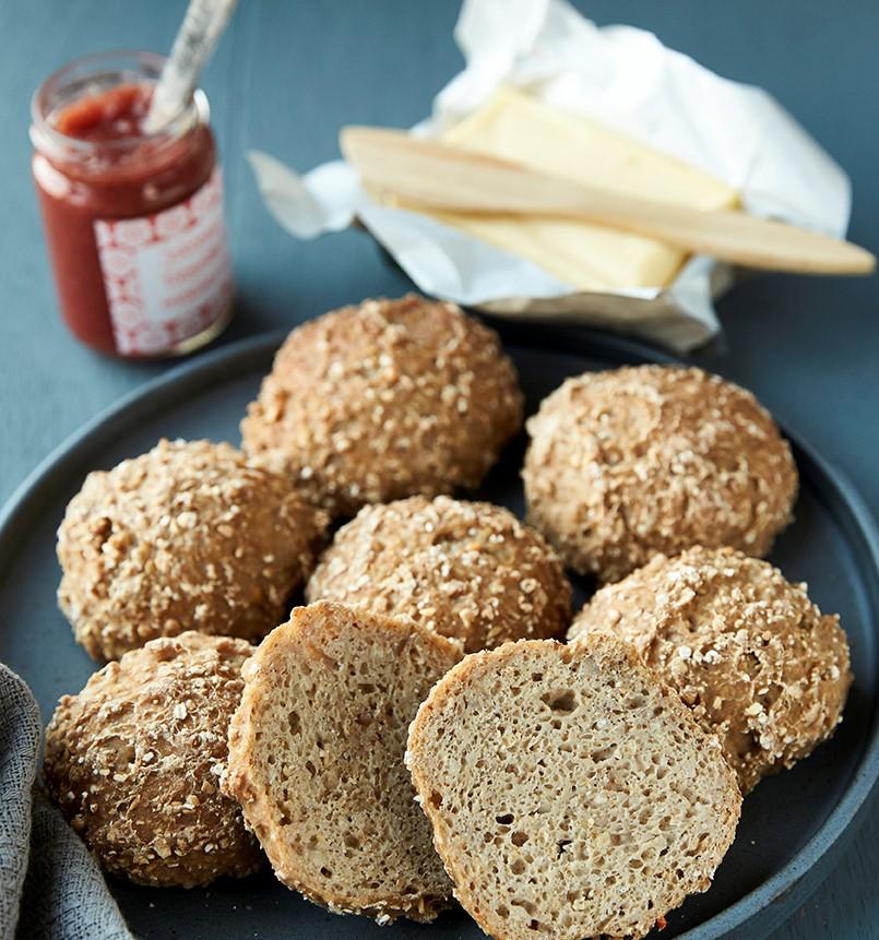 Opskrifter efter Strukturmetoden - glutenfri surdejsboller